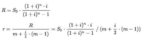 Die Formeln, die unserem Umschuldungsrechner zugrunde liegen