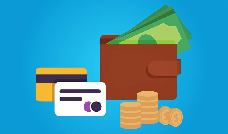 geldbeutel, bargeld, kreditkarten